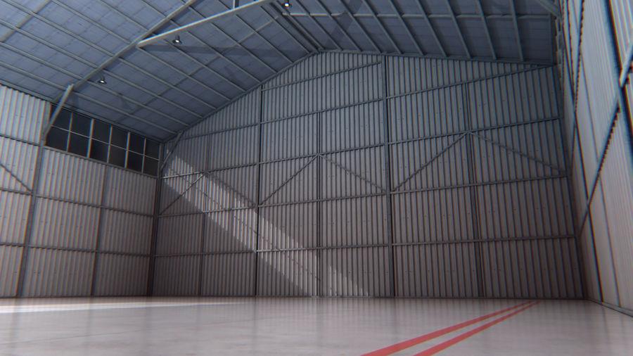 Interior del hangar de los aviones royalty-free modelo 3d - Preview no. 3