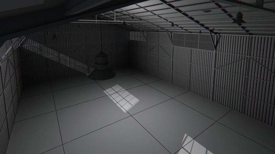 Interior del hangar de los aviones royalty-free modelo 3d - Preview no. 7