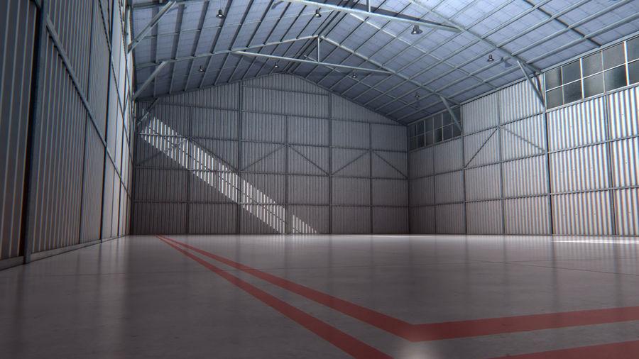 Interior del hangar de los aviones royalty-free modelo 3d - Preview no. 1