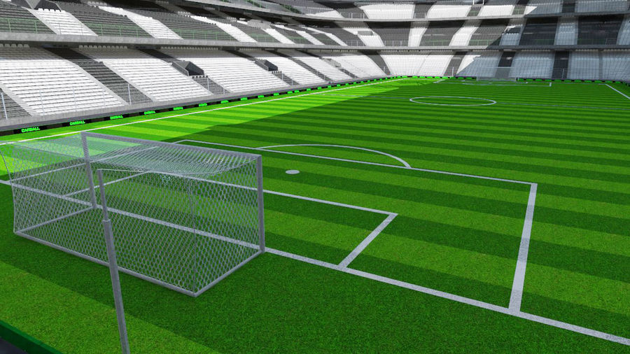 Voetbal stadion royalty-free 3d model - Preview no. 3