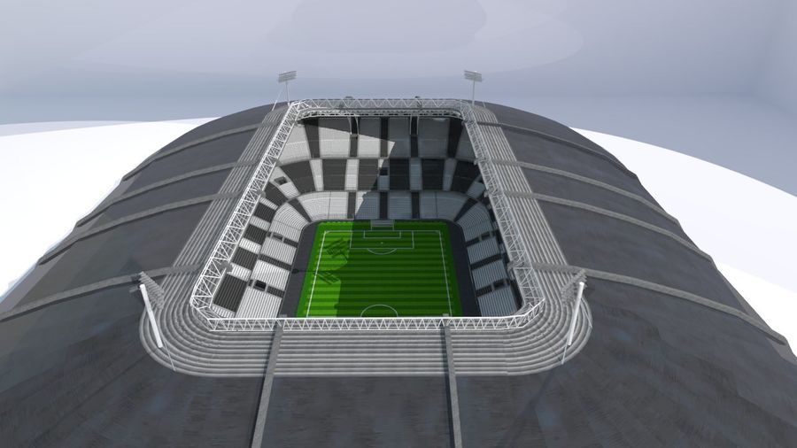 Soccer Stadium royalty-free 3d model - Preview no. 10