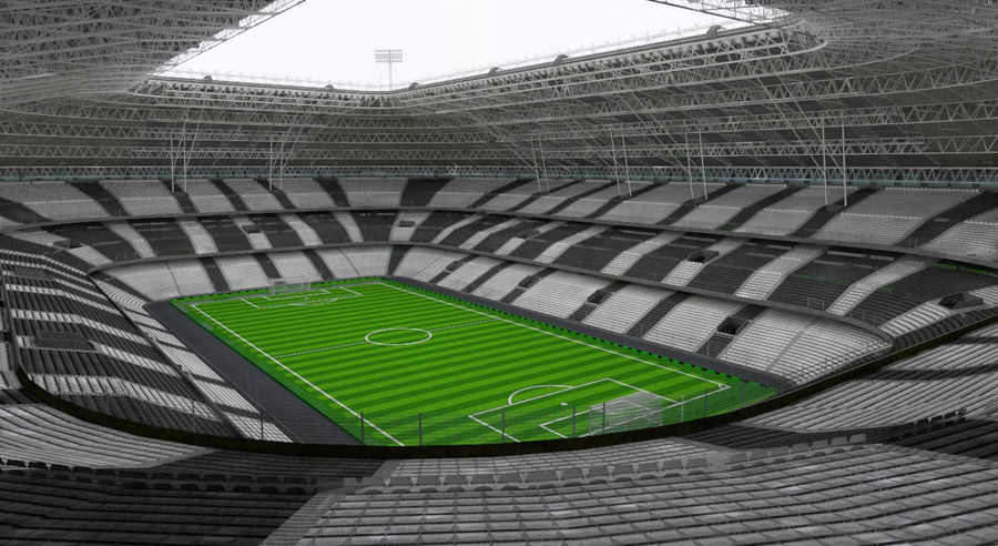 Voetbal stadion royalty-free 3d model - Preview no. 6