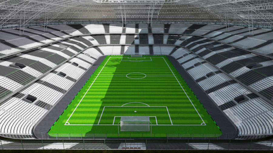 Voetbal stadion royalty-free 3d model - Preview no. 8