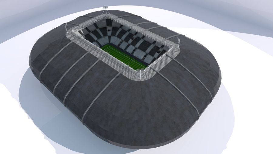 Soccer Stadium royalty-free 3d model - Preview no. 11