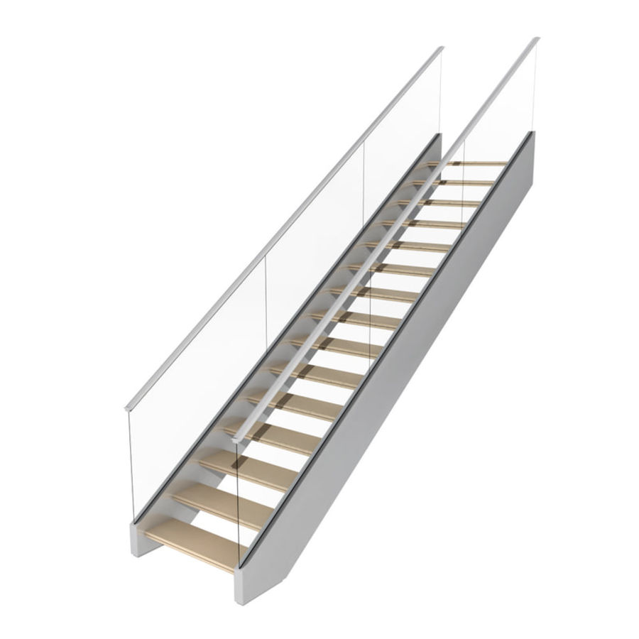 Modern stair royalty-free 3d model - Preview no. 3
