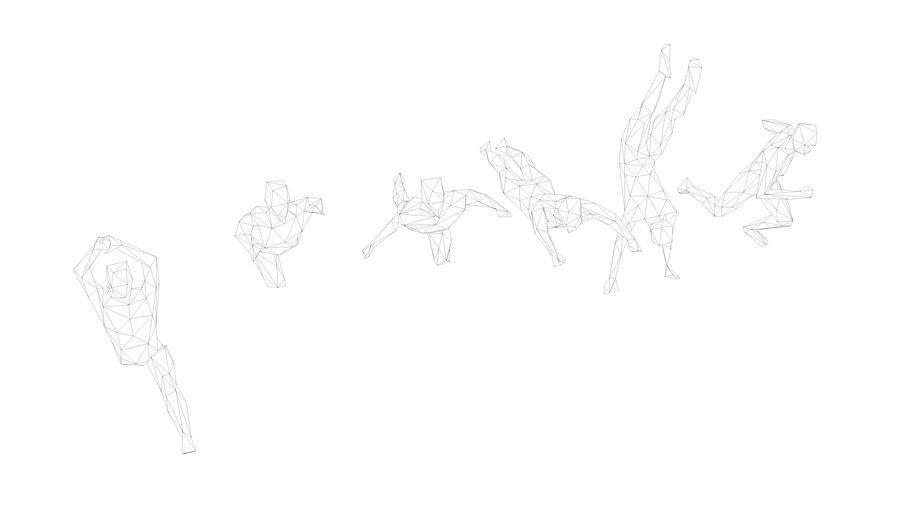 menselijk atletisch (Low-Poly) royalty-free 3d model - Preview no. 5