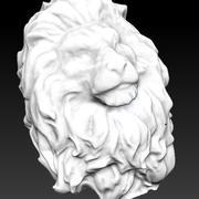 king Lion head bust 3d model