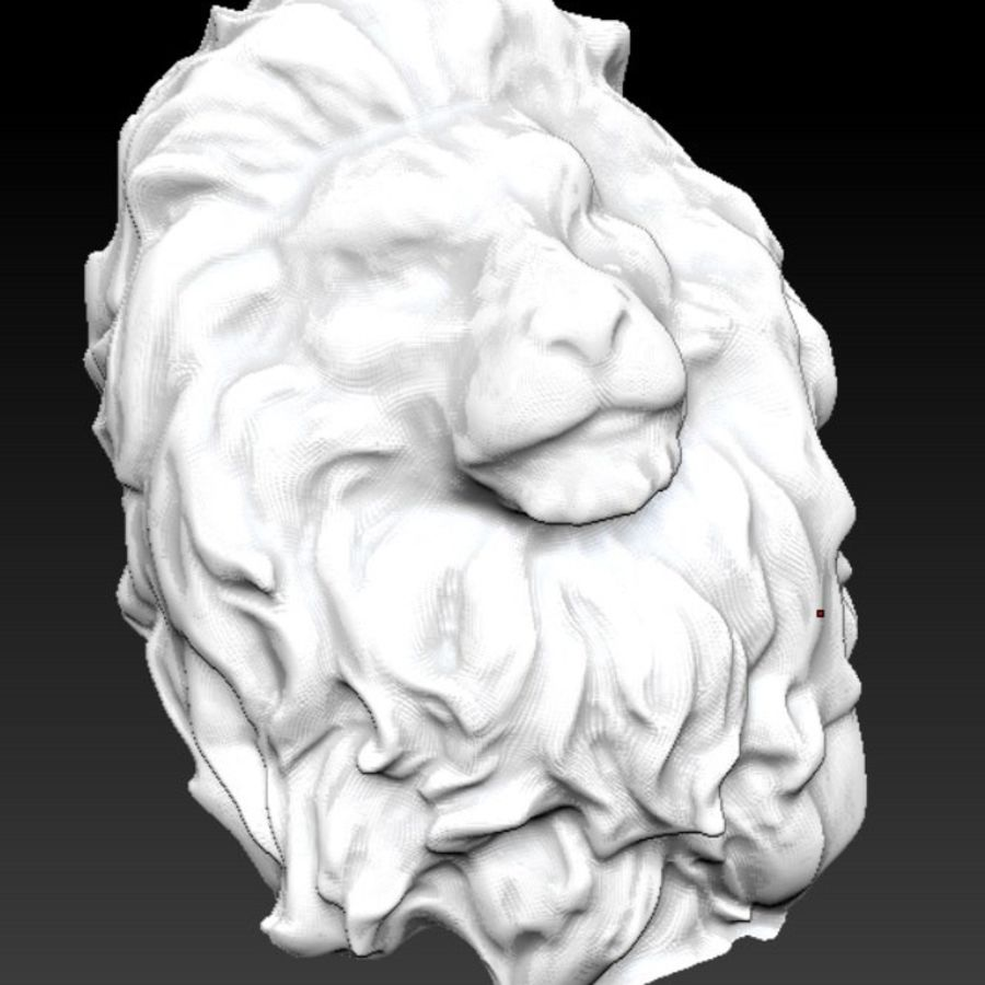 king Lion head bust royalty-free 3d model - Preview no. 1
