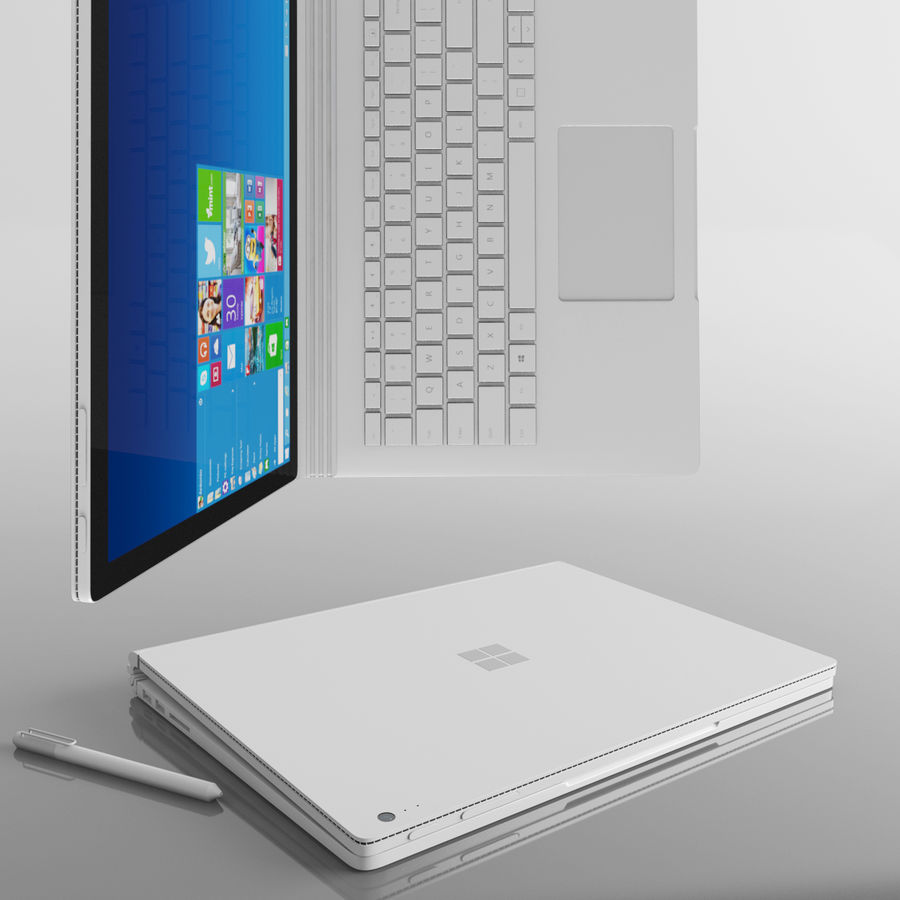 Surface Book royalty-free 3d model - Preview no. 2