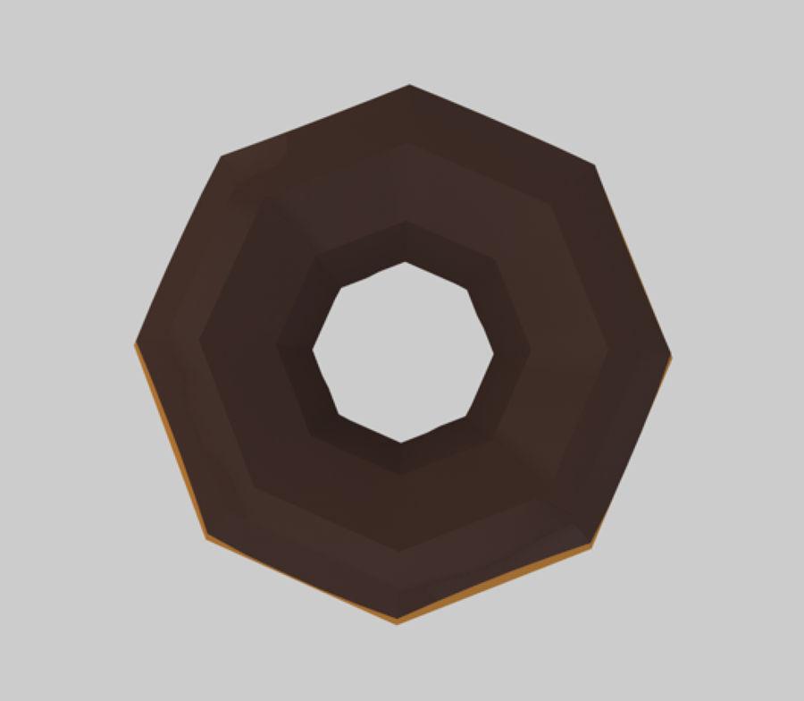 låg poly donut (spel redo) royalty-free 3d model - Preview no. 2