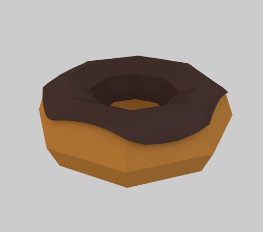 låg poly donut (spel redo) royalty-free 3d model - Preview no. 3