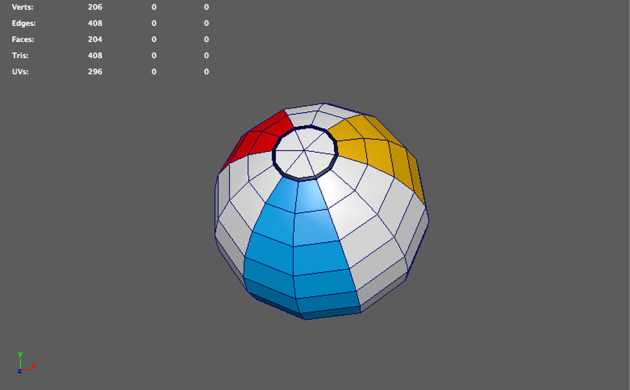 low poly beach ball (game ready) royalty-free 3d model - Preview no. 4