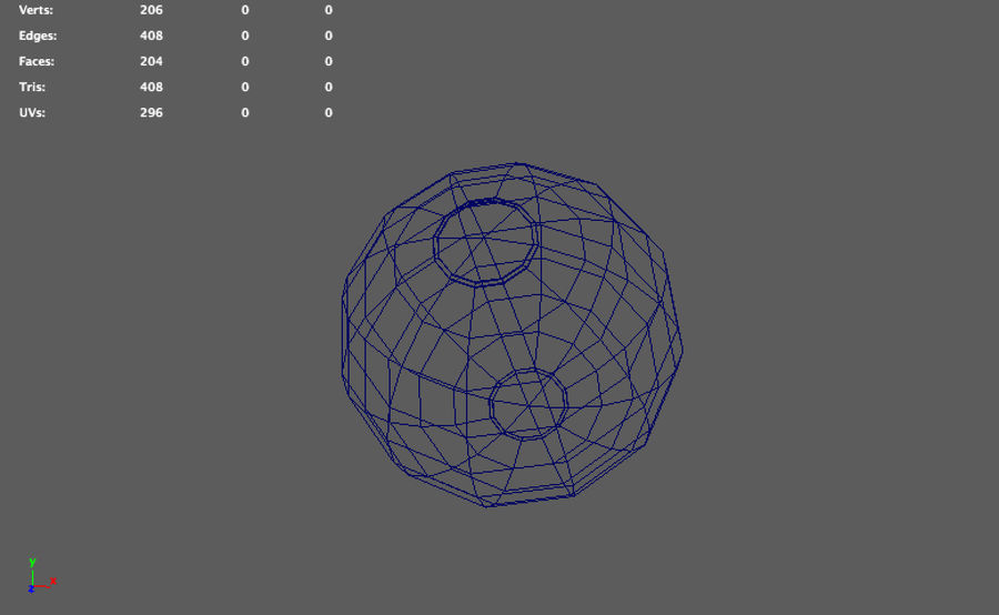 low poly beach ball (game ready) royalty-free 3d model - Preview no. 5