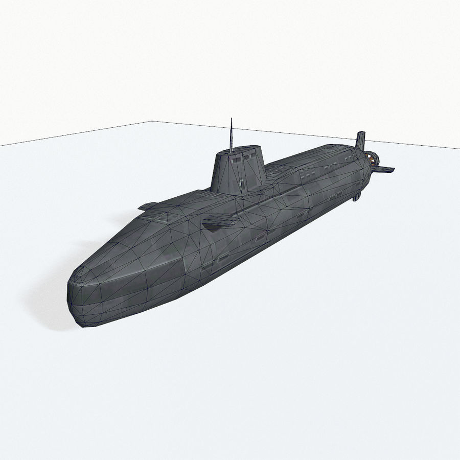 Astute-class submarine royalty-free 3d model - Preview no. 10