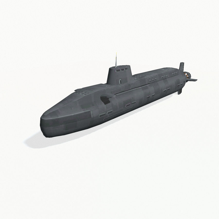 Astute-class submarine royalty-free 3d model - Preview no. 3