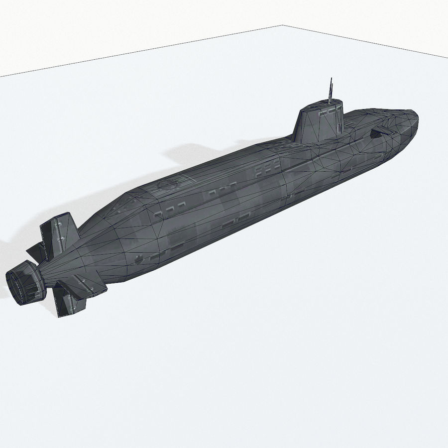 Astute-class submarine royalty-free 3d model - Preview no. 12