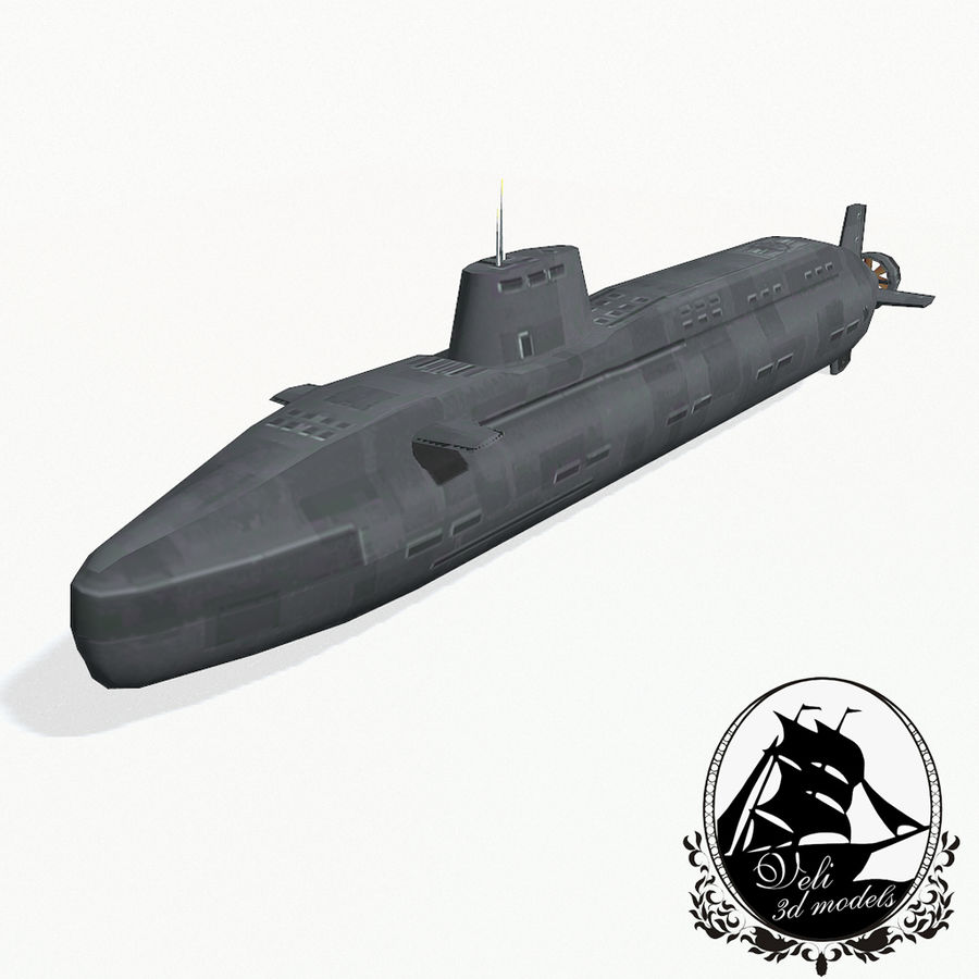 Astute-class submarine royalty-free 3d model - Preview no. 1