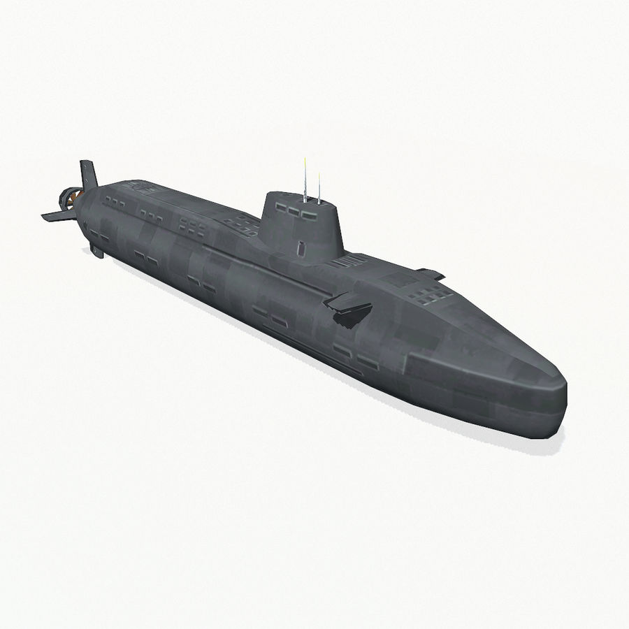 Astute-class submarine royalty-free 3d model - Preview no. 8