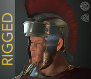 Roman Soldier PBR Rigged 3d model