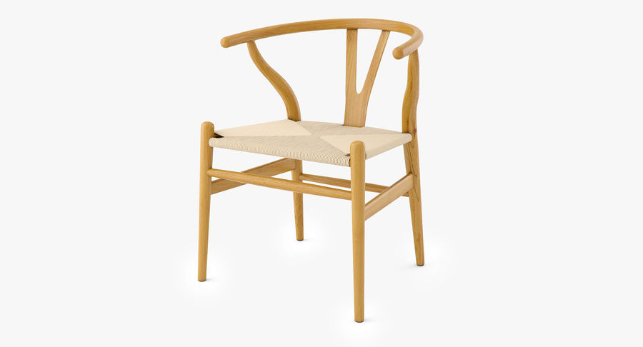 Wishbone chair royalty-free 3d model - Preview no. 2
