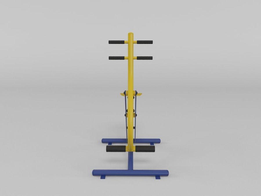 Equipo de gimnasio de gimnasio al aire libre (1) royalty-free modelo 3d - Preview no. 5