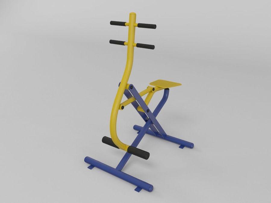Equipo de gimnasio de gimnasio al aire libre (1) royalty-free modelo 3d - Preview no. 4
