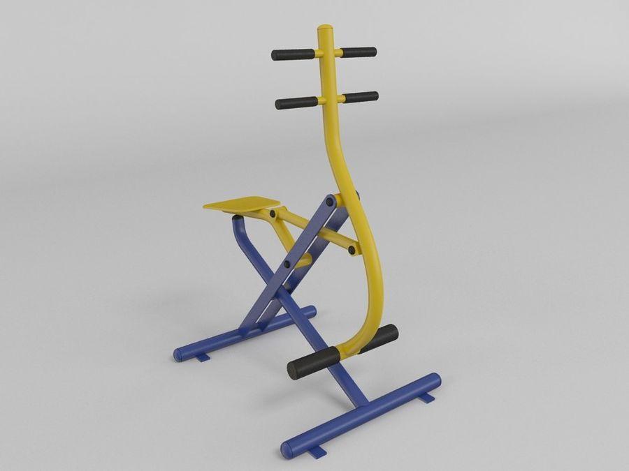 Equipo de gimnasio de gimnasio al aire libre (1) royalty-free modelo 3d - Preview no. 1