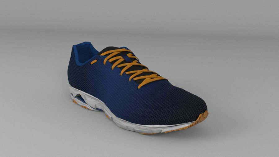 Sport Shoes royalty-free 3d model - Preview no. 6