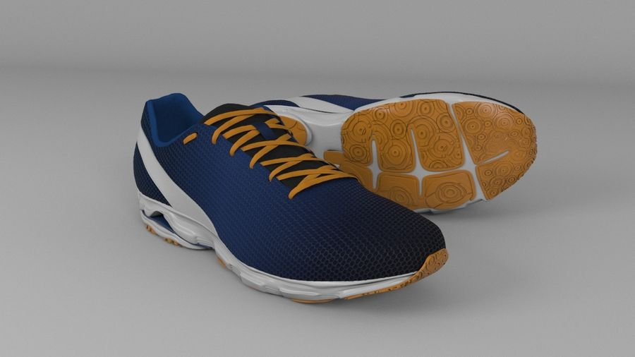 Sport Shoes royalty-free 3d model - Preview no. 2