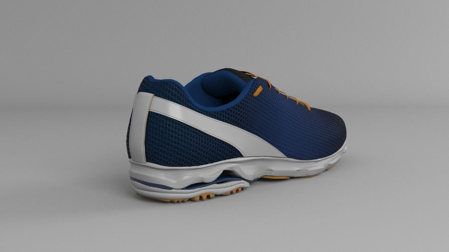 Sport Shoes royalty-free 3d model - Preview no. 7