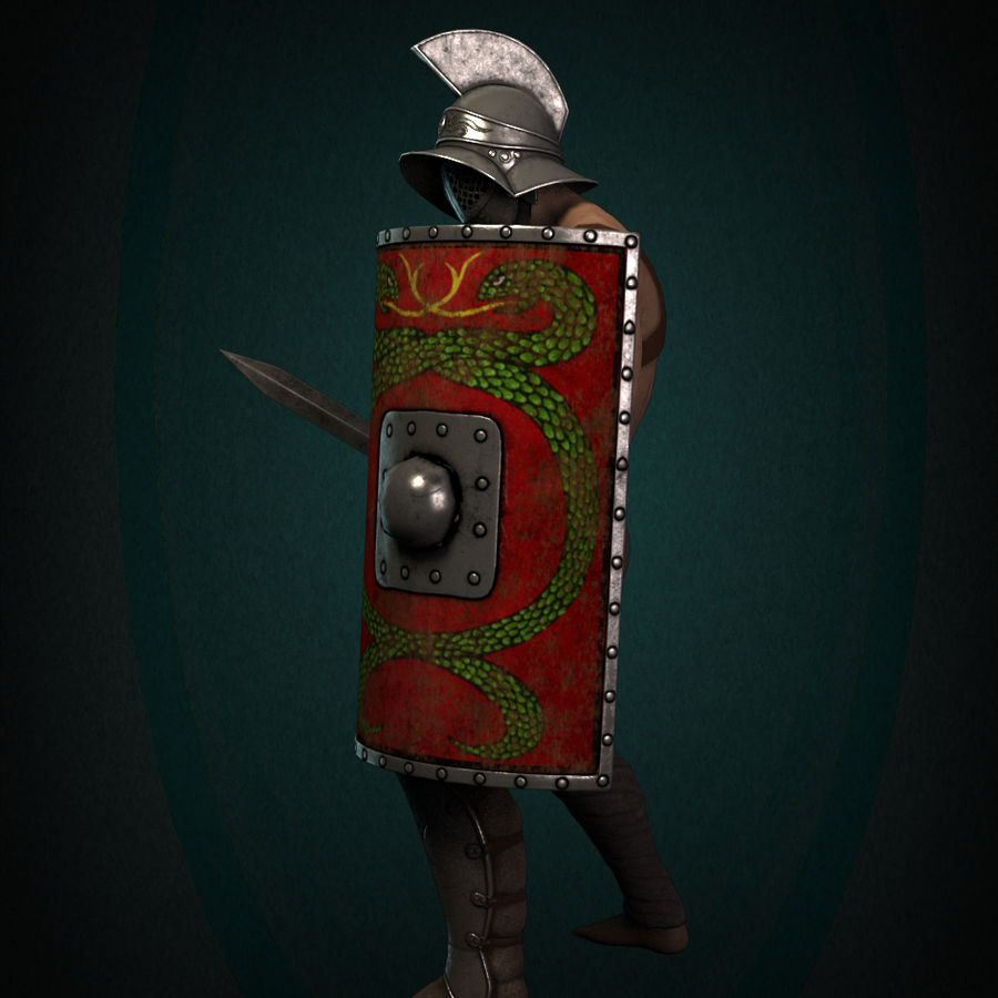 Gladiator Warrior royalty-free 3d model - Preview no. 7