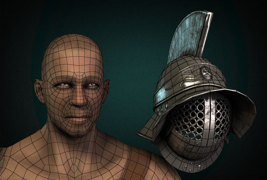 Gladiator Warrior royalty-free 3d model - Preview no. 8