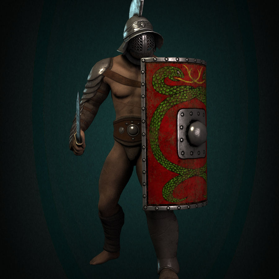 Gladiator Warrior royalty-free 3d model - Preview no. 2