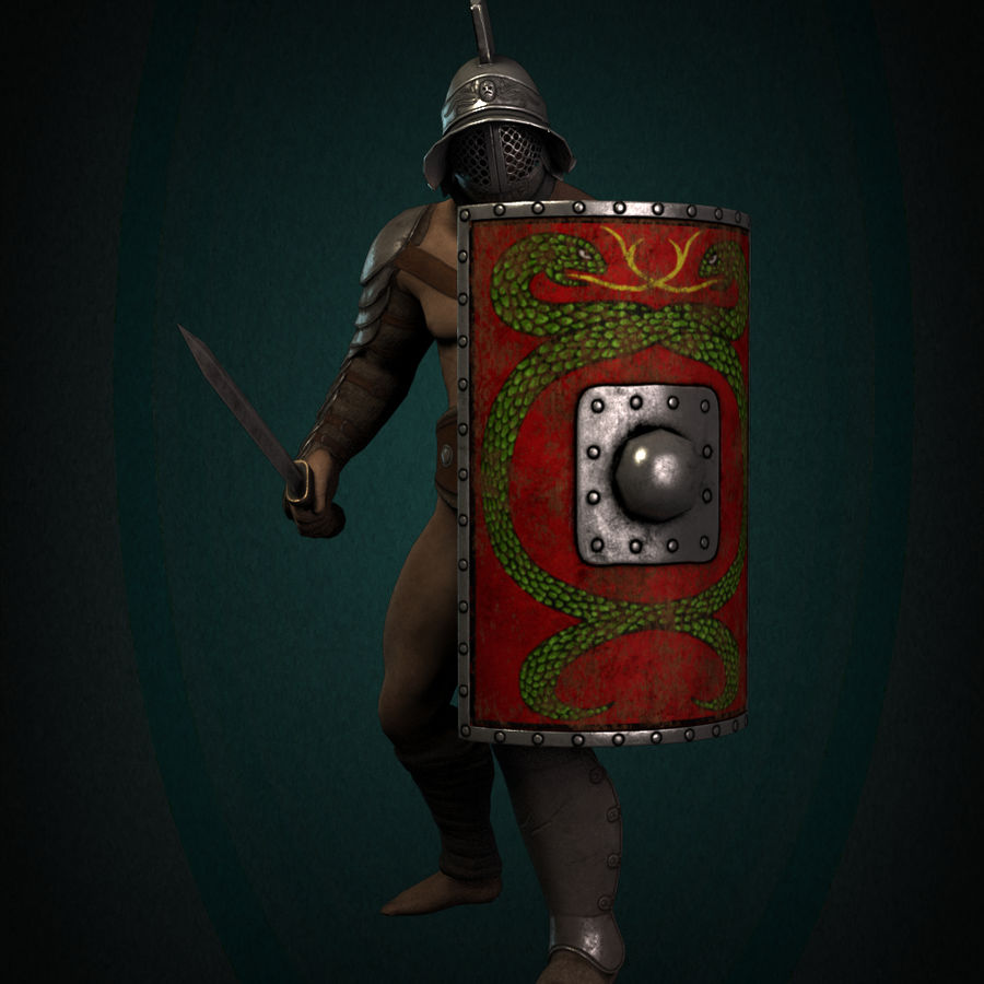 Gladiator Warrior royalty-free 3d model - Preview no. 5