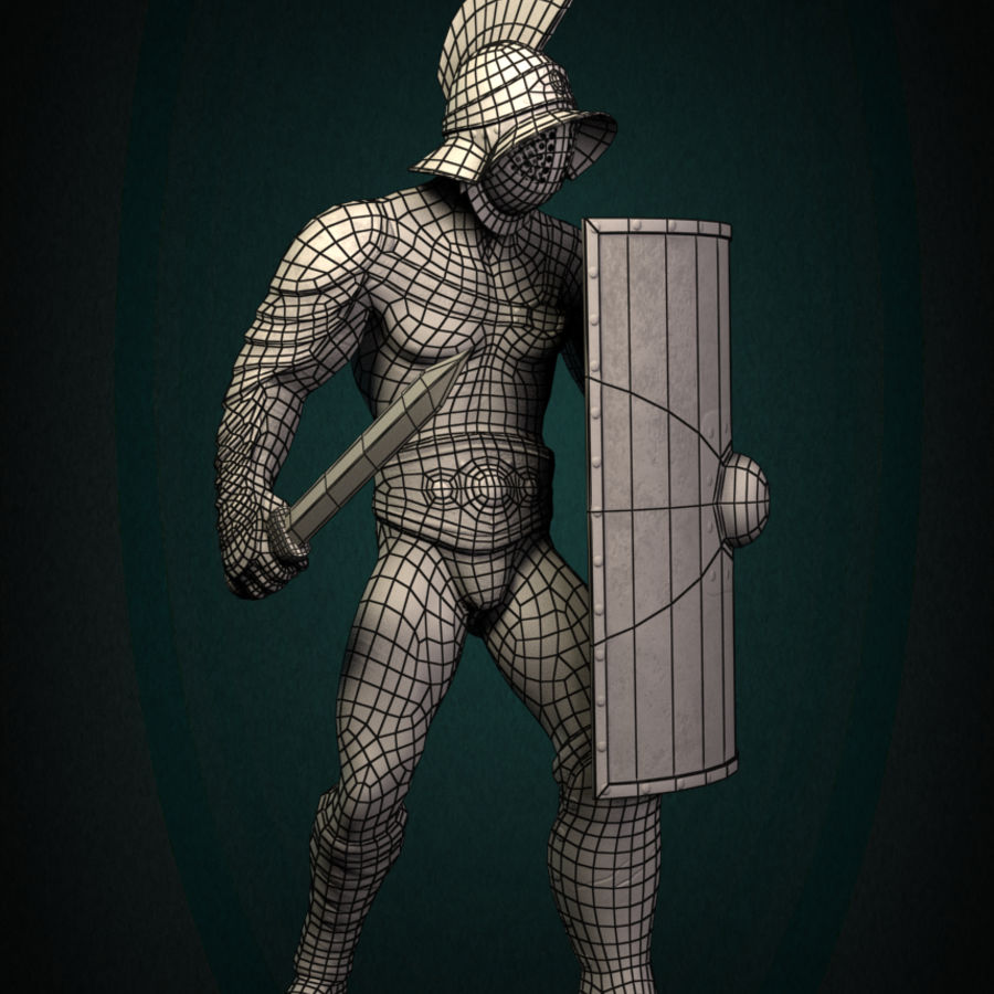 Gladiator Warrior royalty-free 3d model - Preview no. 9