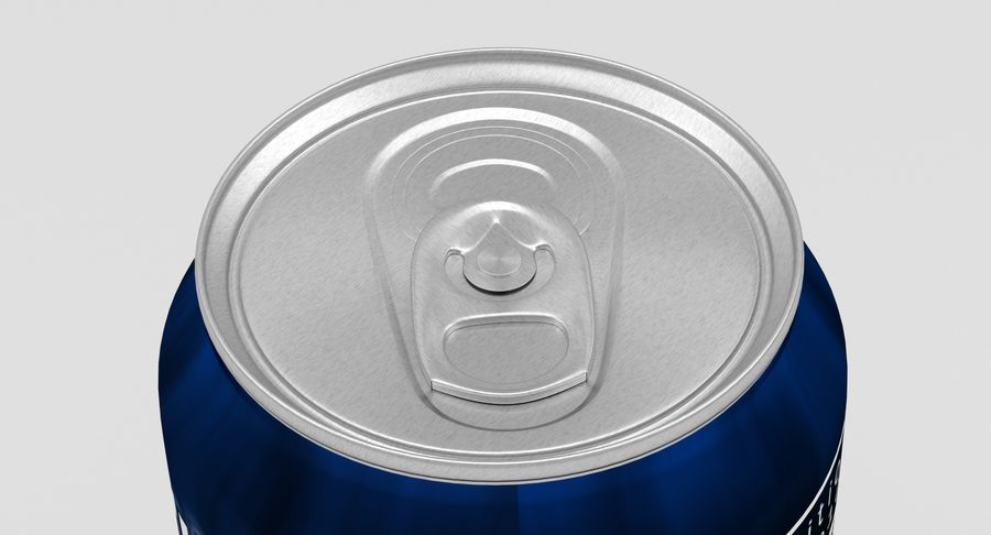 Energy Drink Can royalty-free 3d model - Preview no. 3