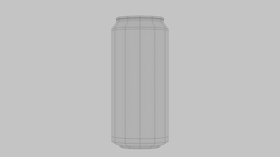 Energy Drink Can royalty-free 3d model - Preview no. 9