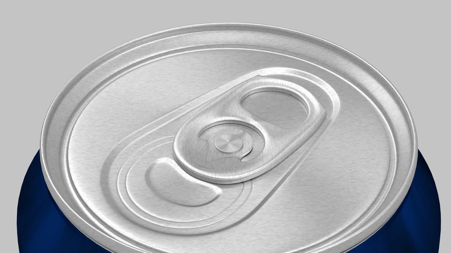 Energy Drink Can royalty-free 3d model - Preview no. 1