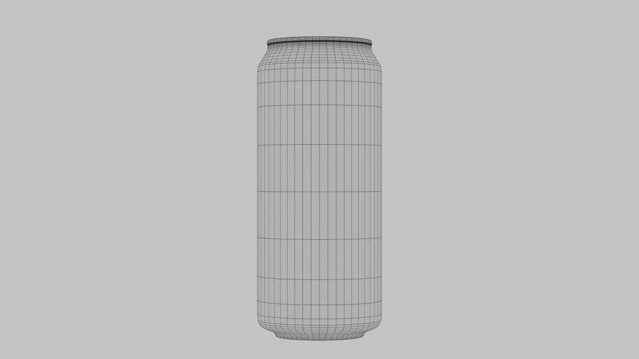 Energy Drink Can royalty-free 3d model - Preview no. 10