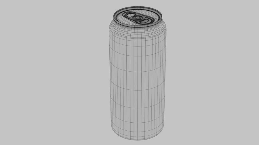 Energy Drink Can royalty-free 3d model - Preview no. 11