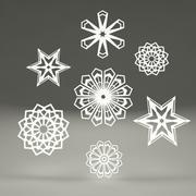 Schneeflocken aus Papier 3d model
