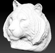 tiger bust 3d model