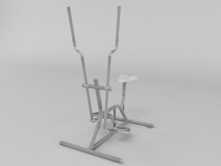 Équipement de fitness en plein air royalty-free 3d model - Preview no. 5