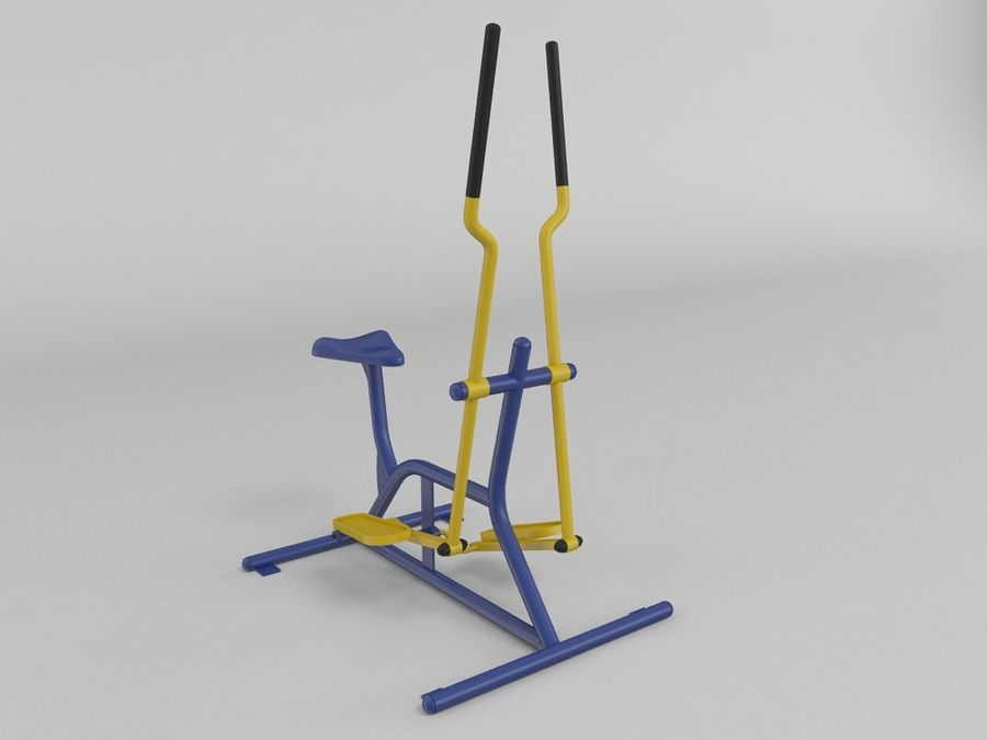 Équipement de fitness en plein air royalty-free 3d model - Preview no. 1