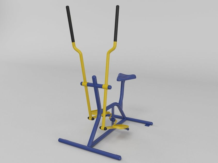 Équipement de fitness en plein air royalty-free 3d model - Preview no. 2