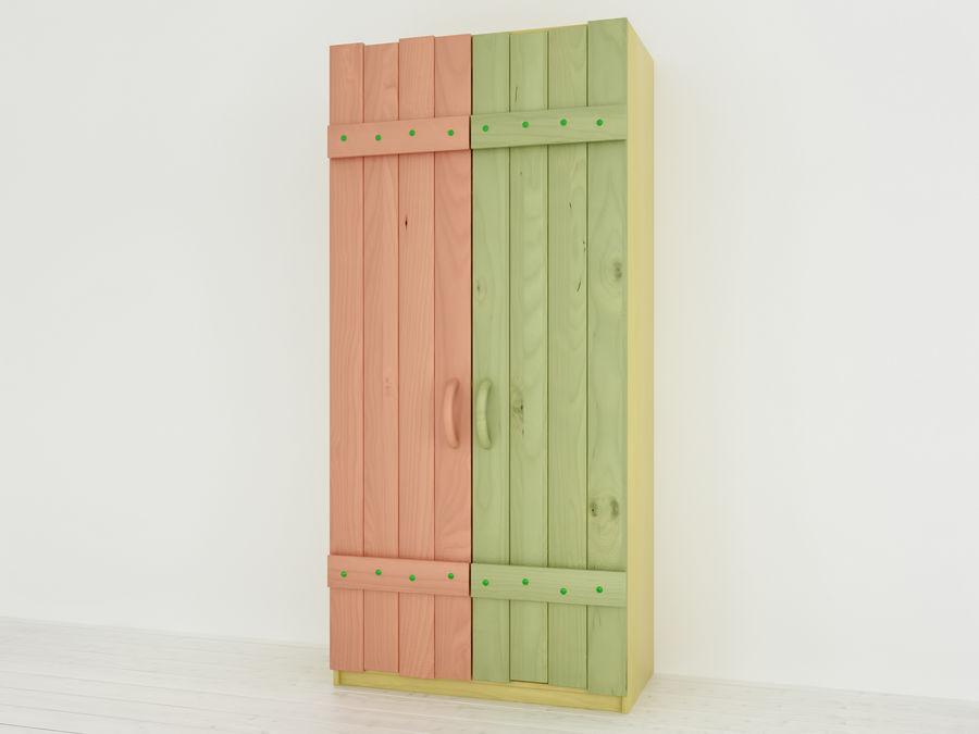 Drewniane meble dla dzieci royalty-free 3d model - Preview no. 6