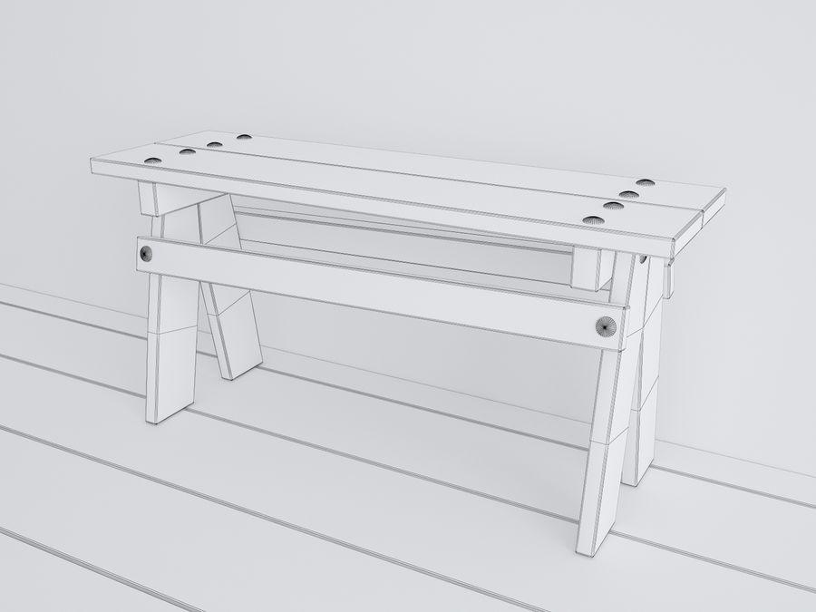 Drewniane meble dla dzieci royalty-free 3d model - Preview no. 11