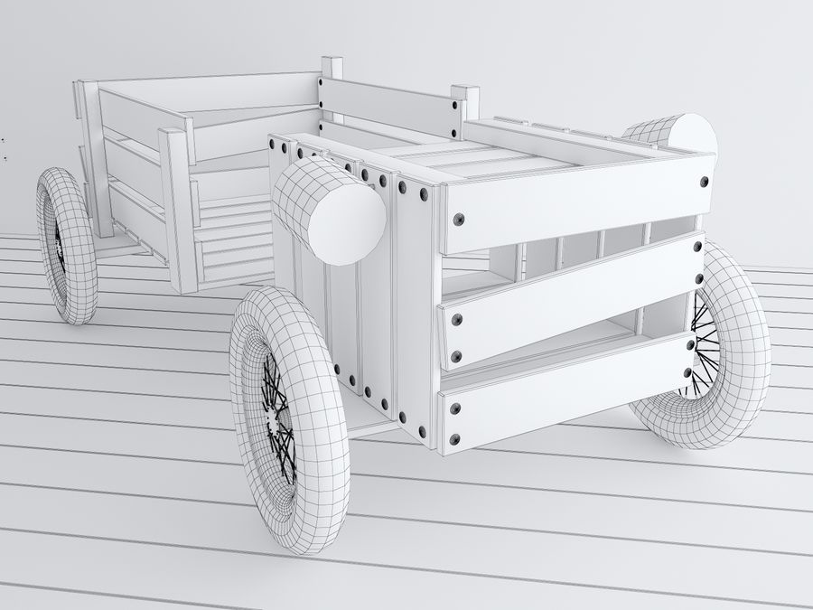 Drewniane meble dla dzieci royalty-free 3d model - Preview no. 3