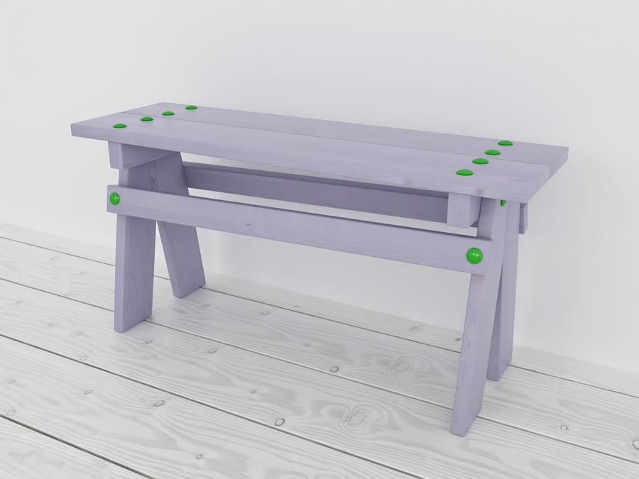 Drewniane meble dla dzieci royalty-free 3d model - Preview no. 10