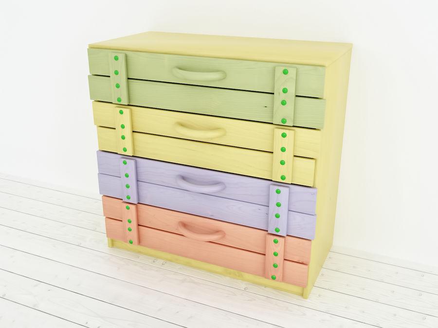 Drewniane meble dla dzieci royalty-free 3d model - Preview no. 4